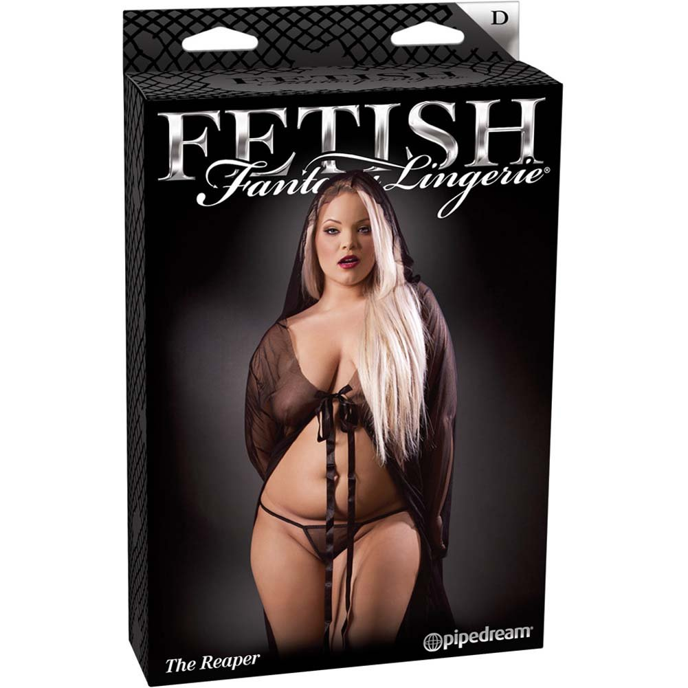 Fetish Fantasy Lingerie The Reaper Set Diva Size Black - View #4