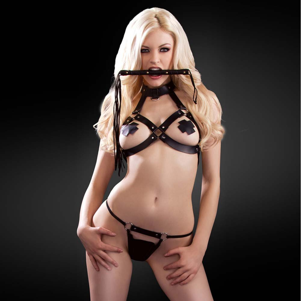 Fetish Fantasy Lingerie Divine Addiction Set Black - View #3