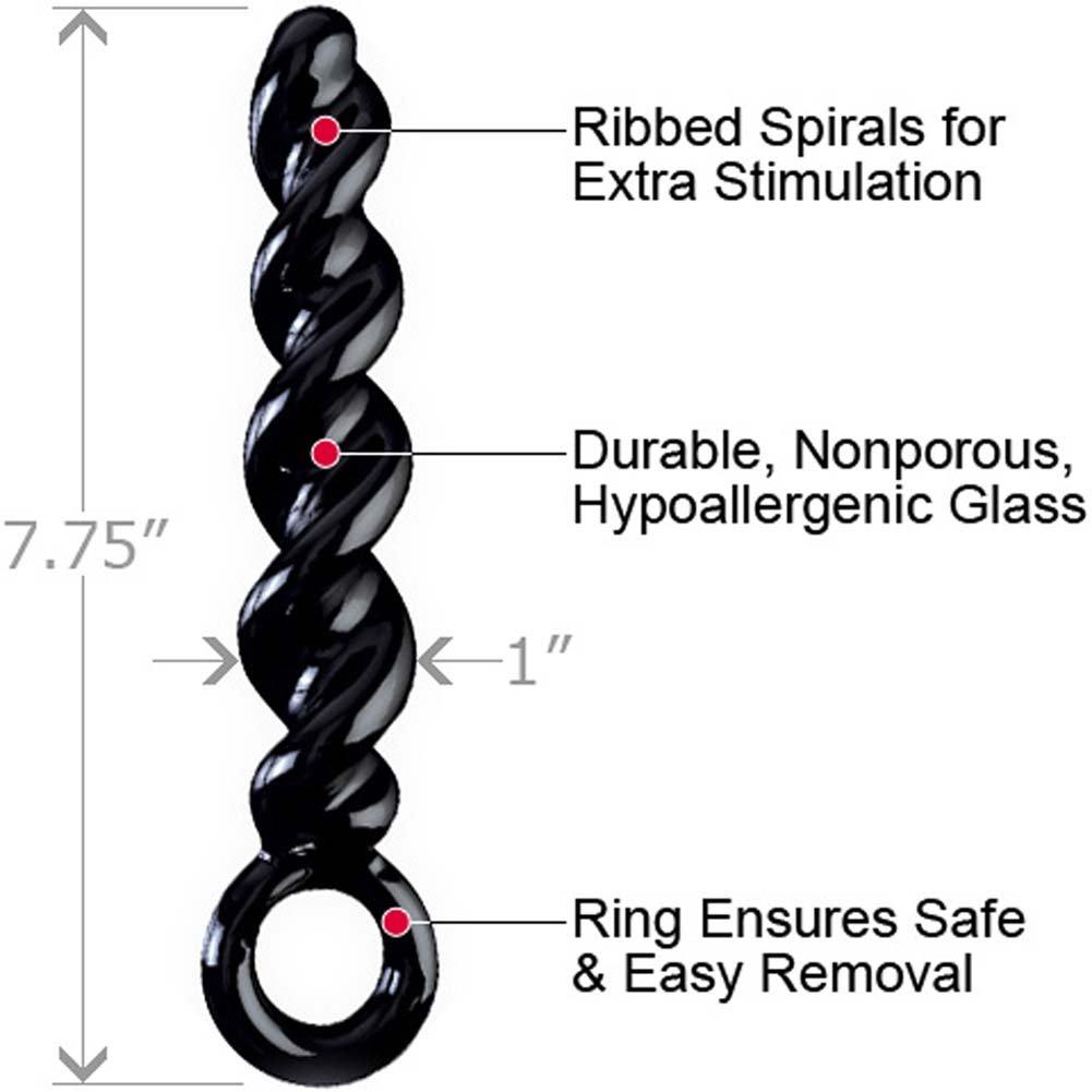 "Icicles No. 39 Glass Butt Plug 7.75"" Black - View #1"