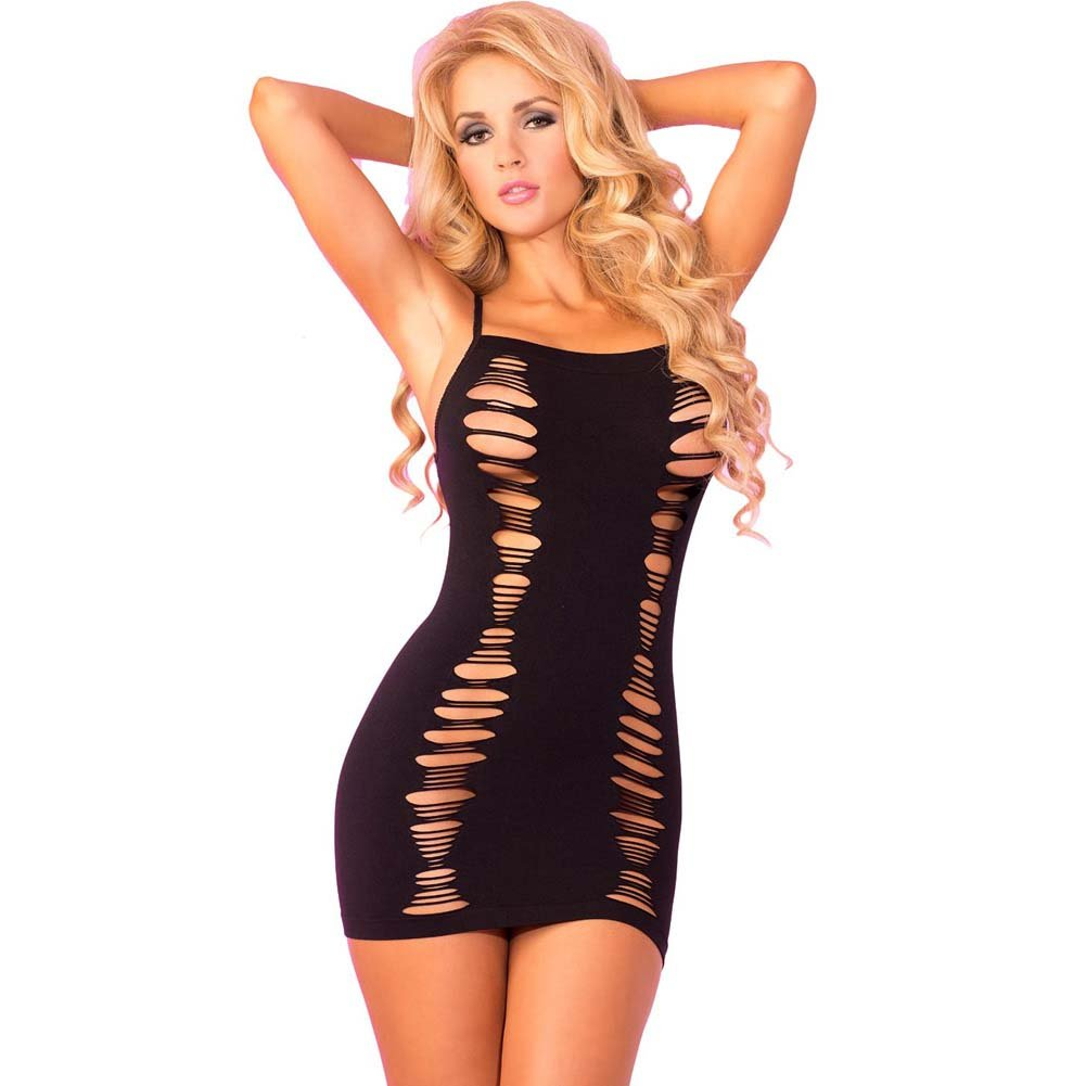 Pink Lipstick Slice of Seduction Mini Dress One Size Black - View #1