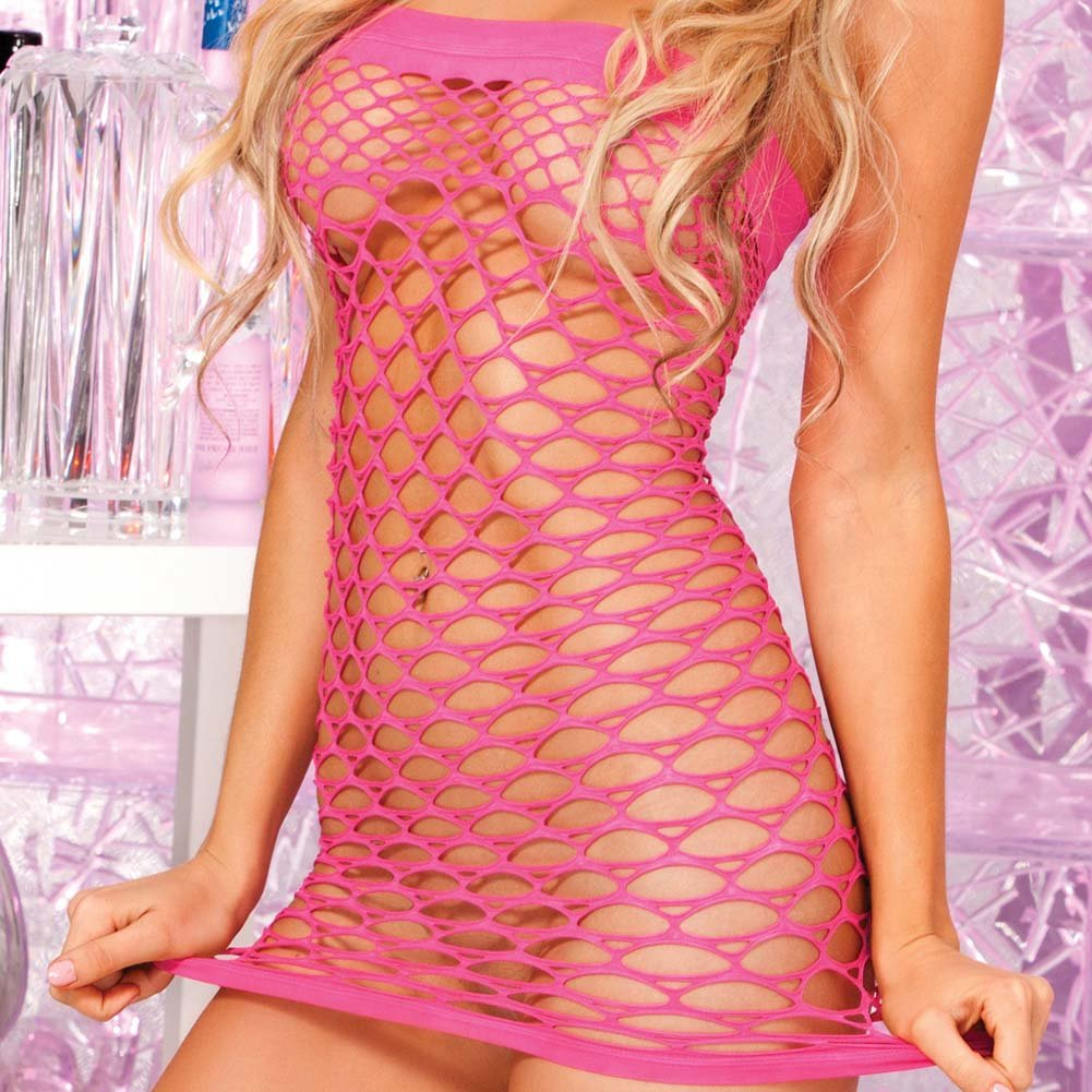 Pink Lipstick Sexy Seamless Tube Dress One Size Pink - View #3