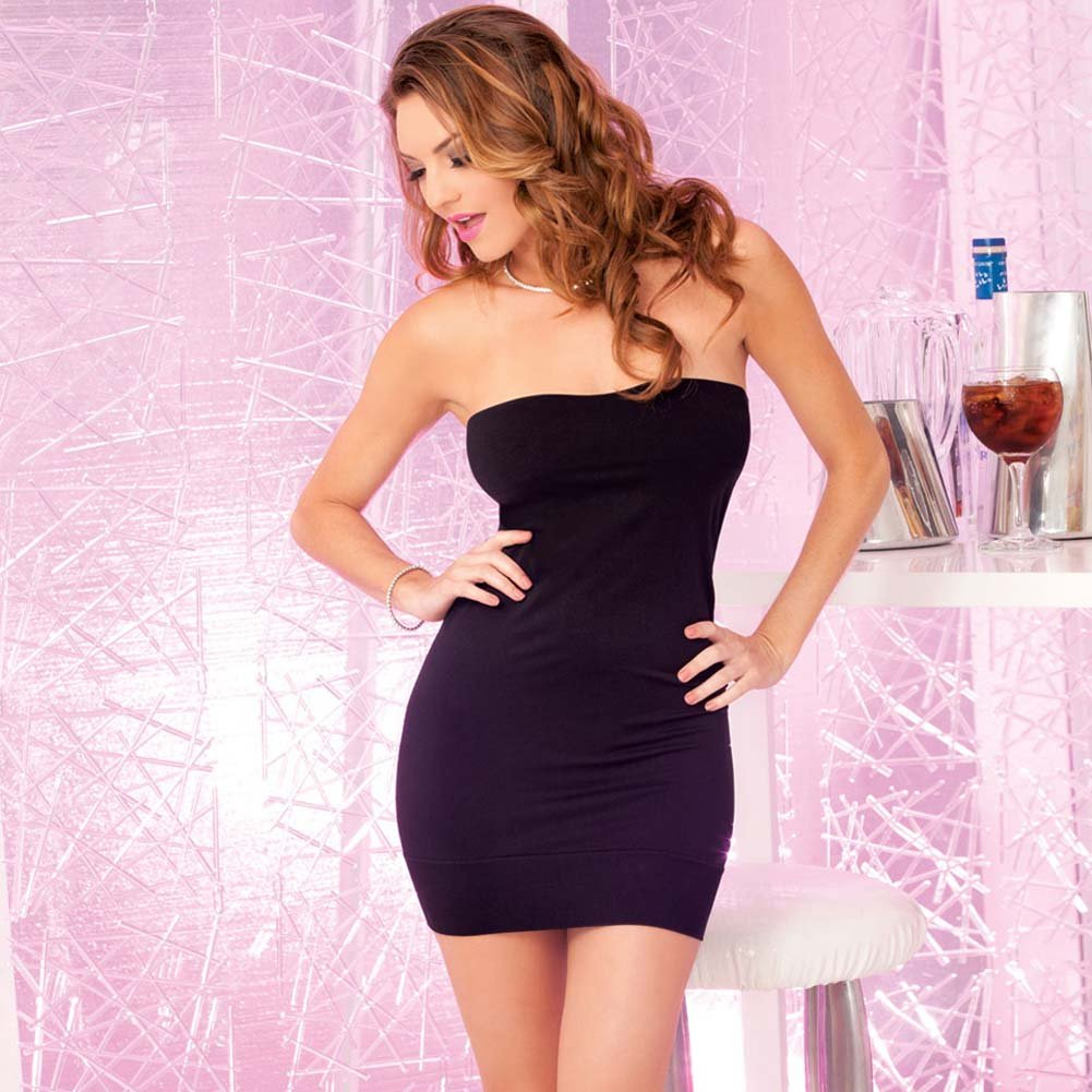 Pink Lipstick Perfect Mini Tube Dress One Size Black - View #1
