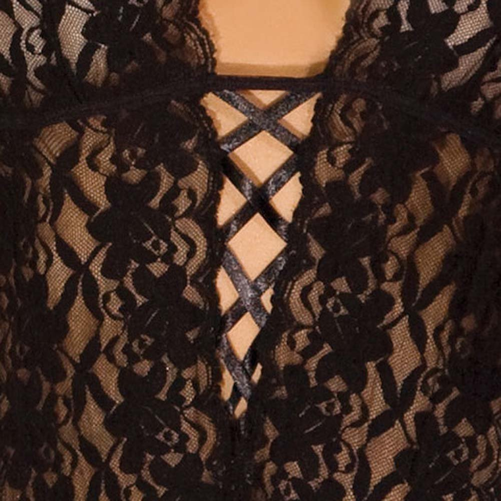 Lace Halter Teddy Black Small/Medium - View #4