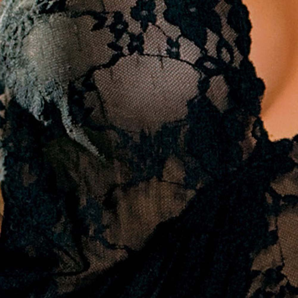 Sheer Lace Teddy Small/toMedium Black - View #4