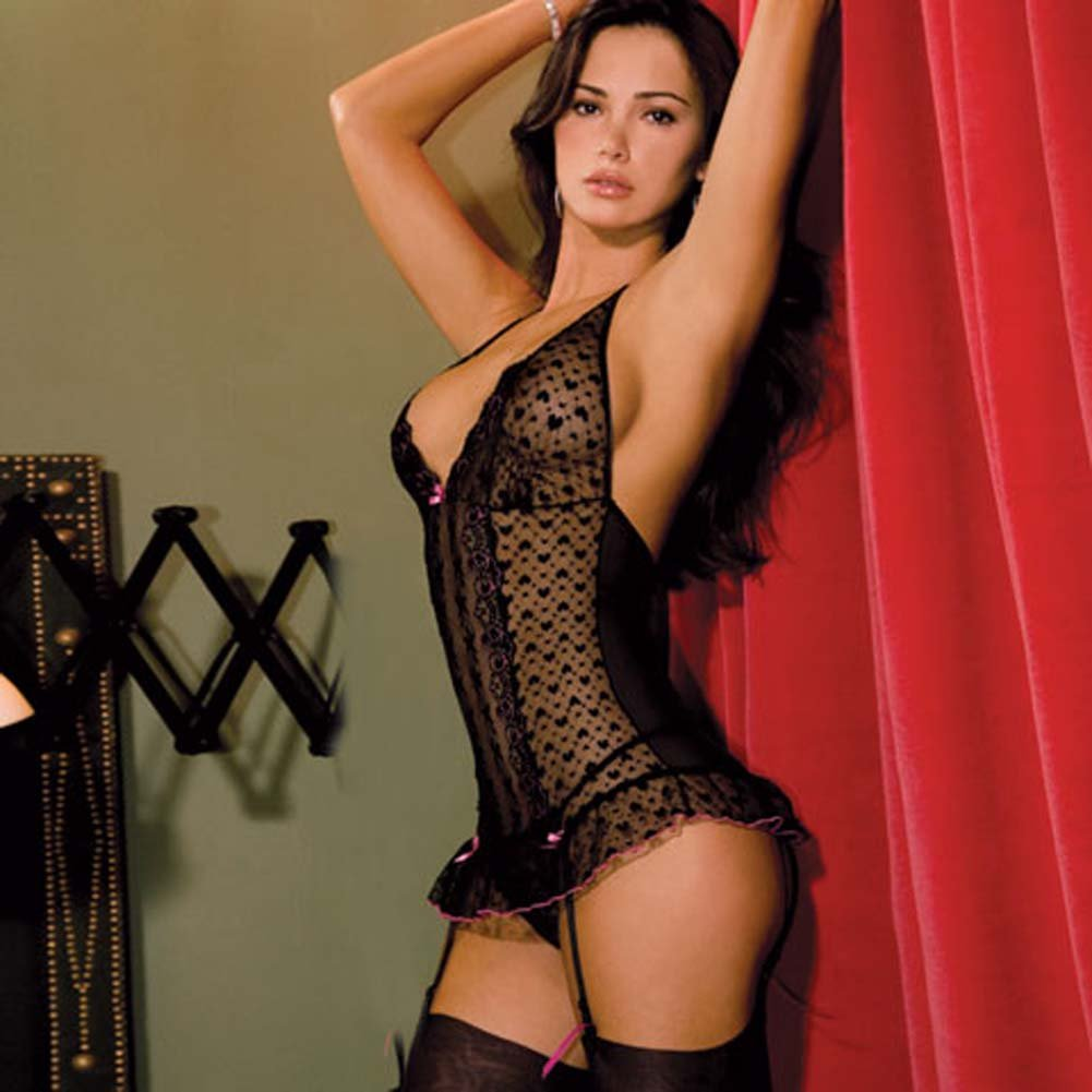 Lace Halter Merry Widow and Thong Set Medium/Large - View #2