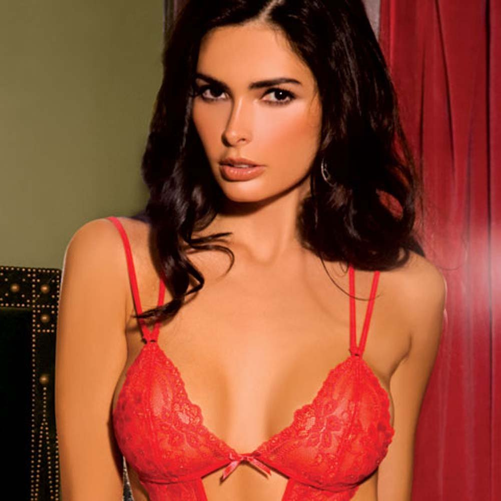 Passionate Lace Teddy Red Medium/Large - View #2