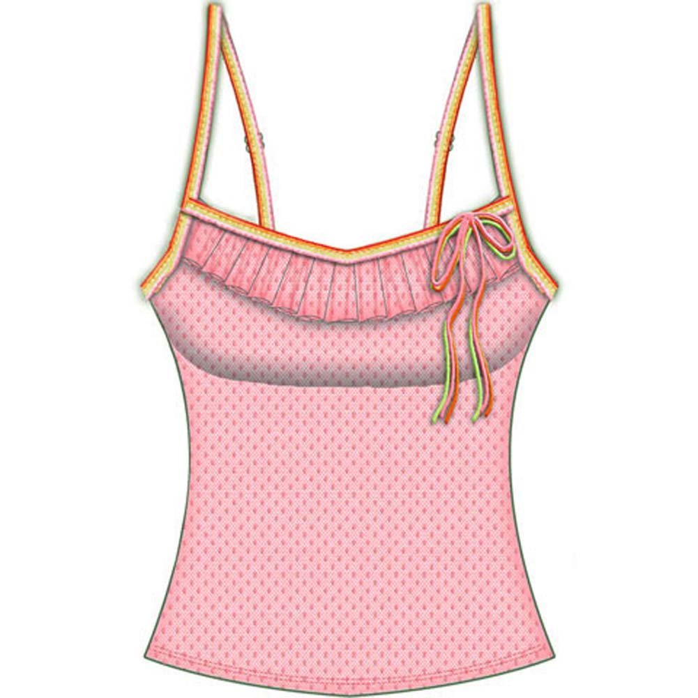 Necessary Objects Rainbow Bright Built in Bra Cami Small Pink - View #2