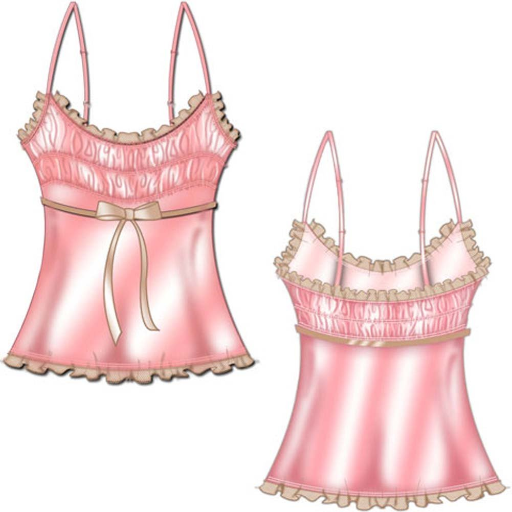 Tea Time Convertible Strap Cami Small Pink - View #2