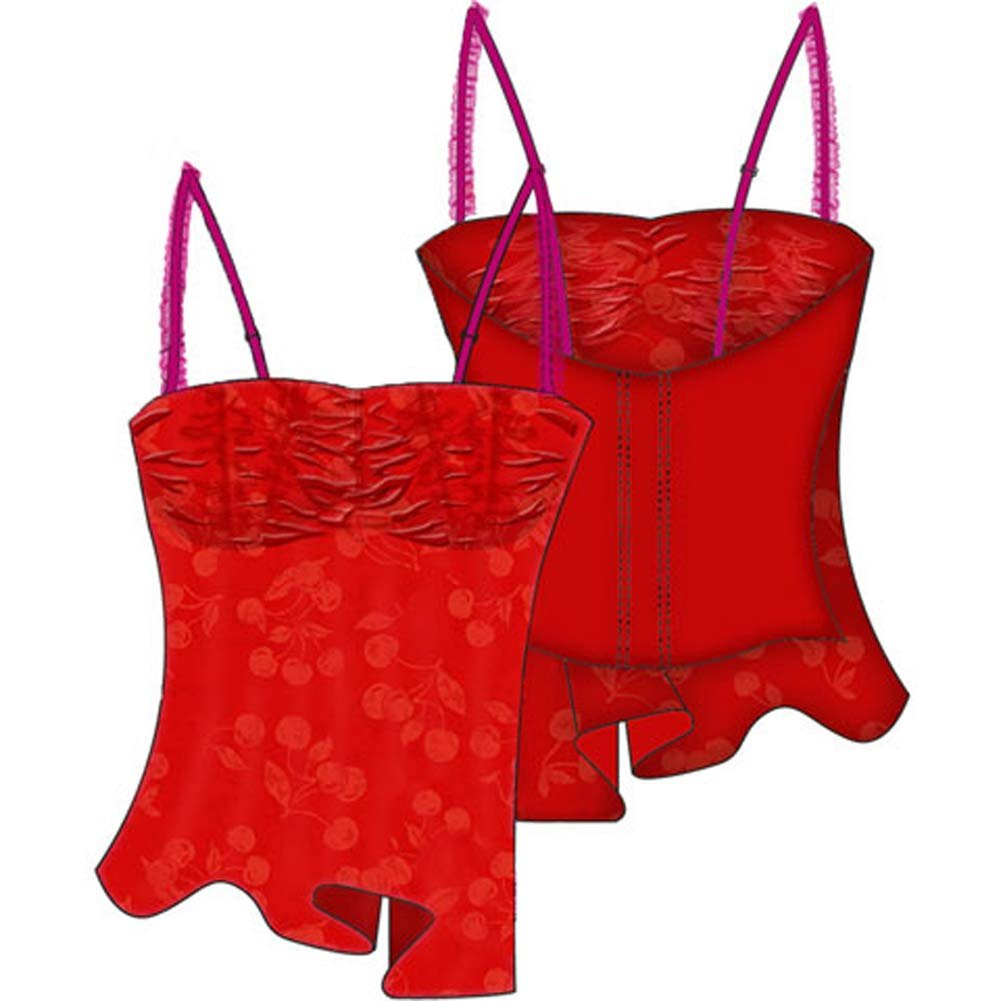 Cherry Pie Relaxed Cup Cami 34C Red - View #2