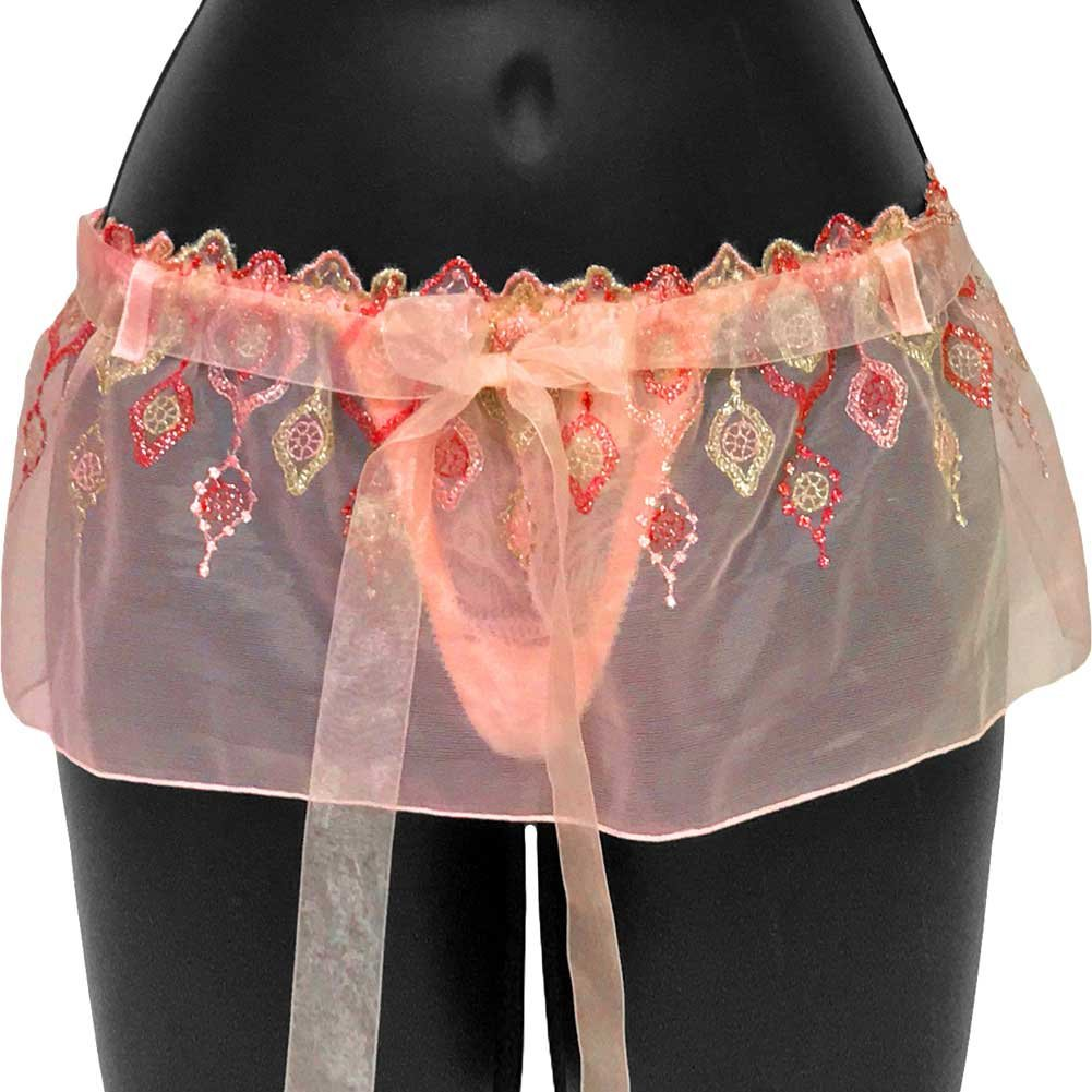 Jewel Of The Nile Skirted T Bar Small Pink - View #1