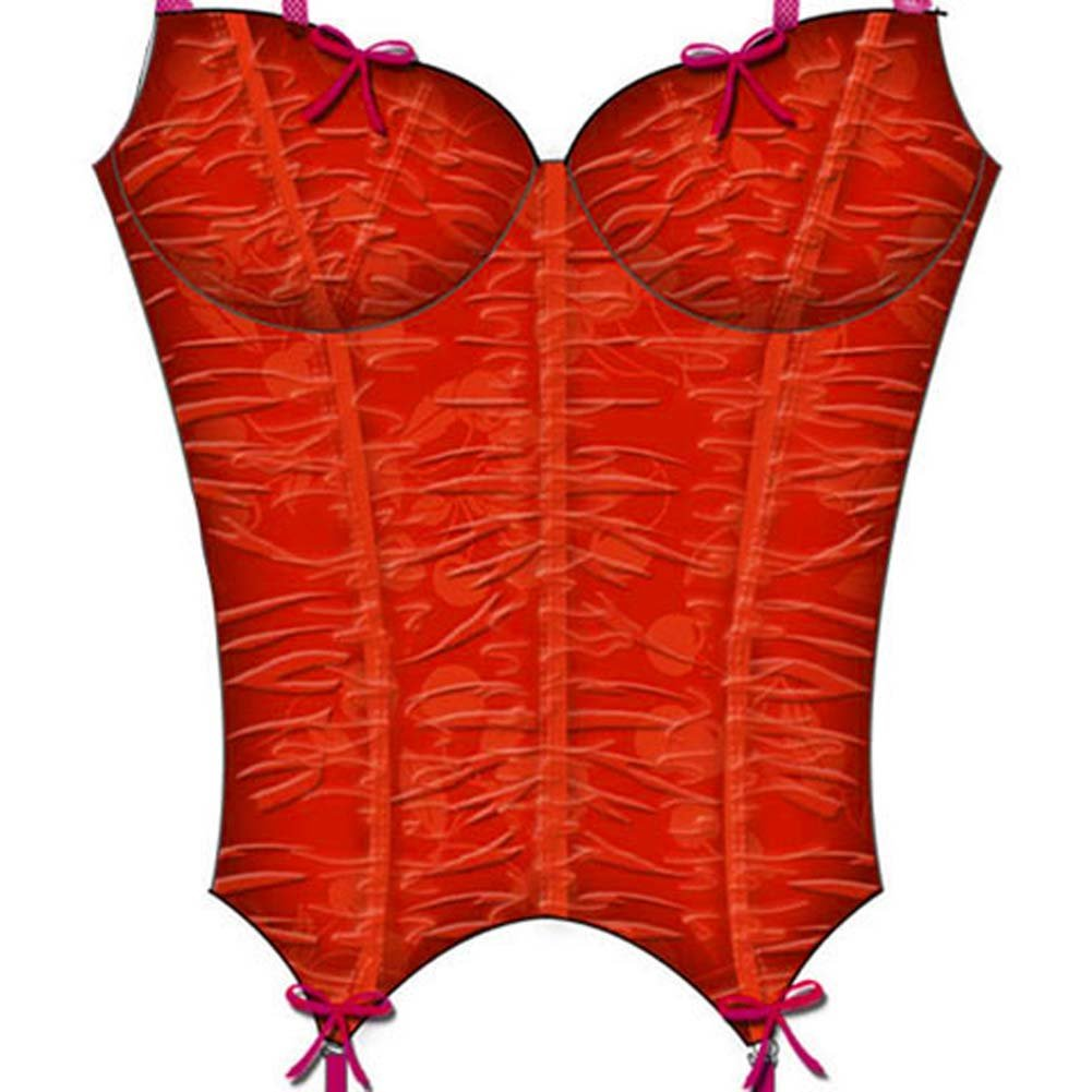Cherry Pie Underwire and Boning Bustier 34C Red - View #3