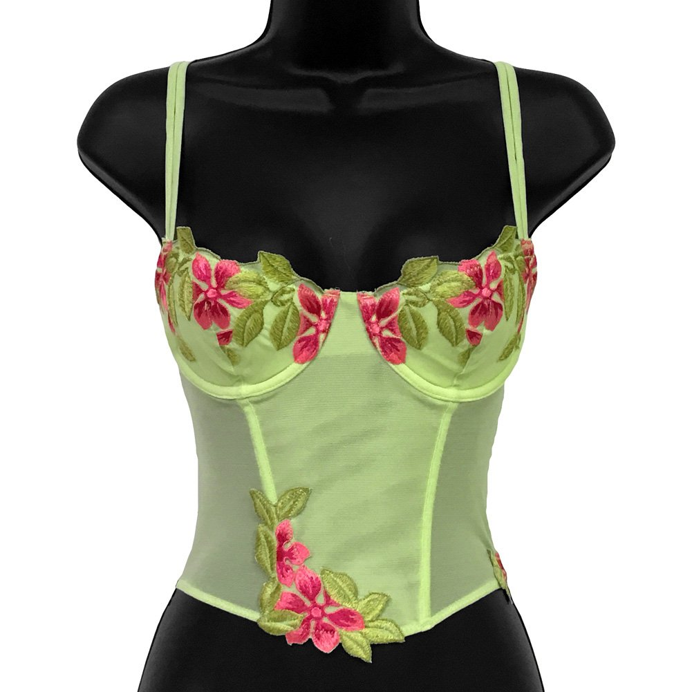Wildflower Boned Princess Line Corset 34A Lime - View #1