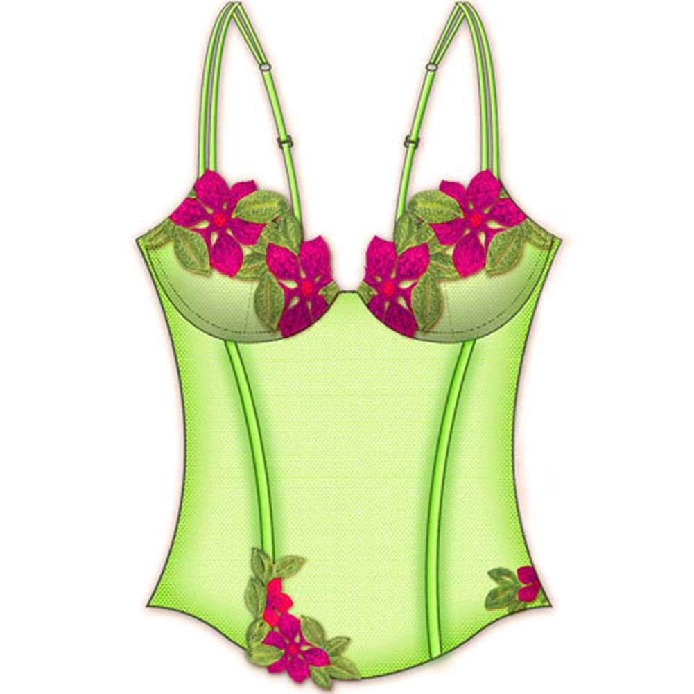 Wildflower Boned Princess Line Corset 36B Lime - View #2
