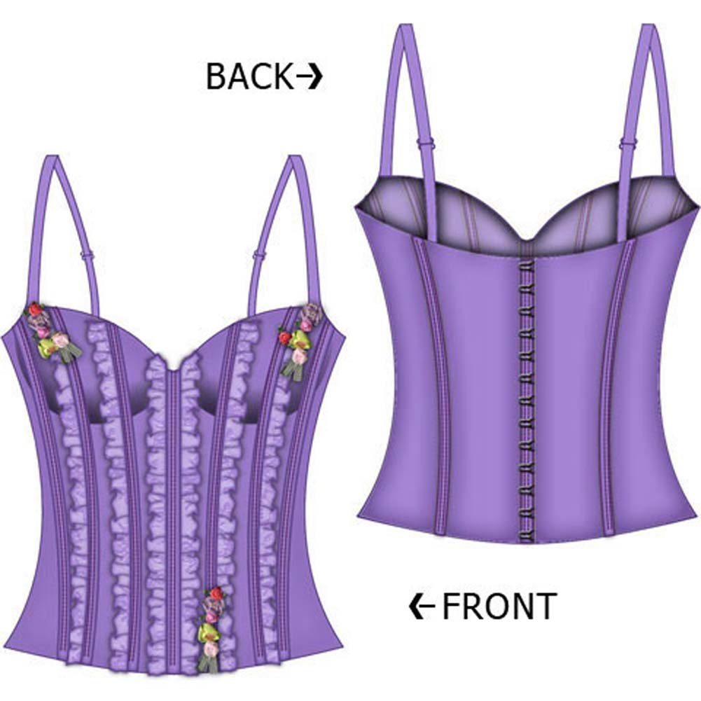 Fairy Princess Lined Boning Corset Medium Lavender - View #1