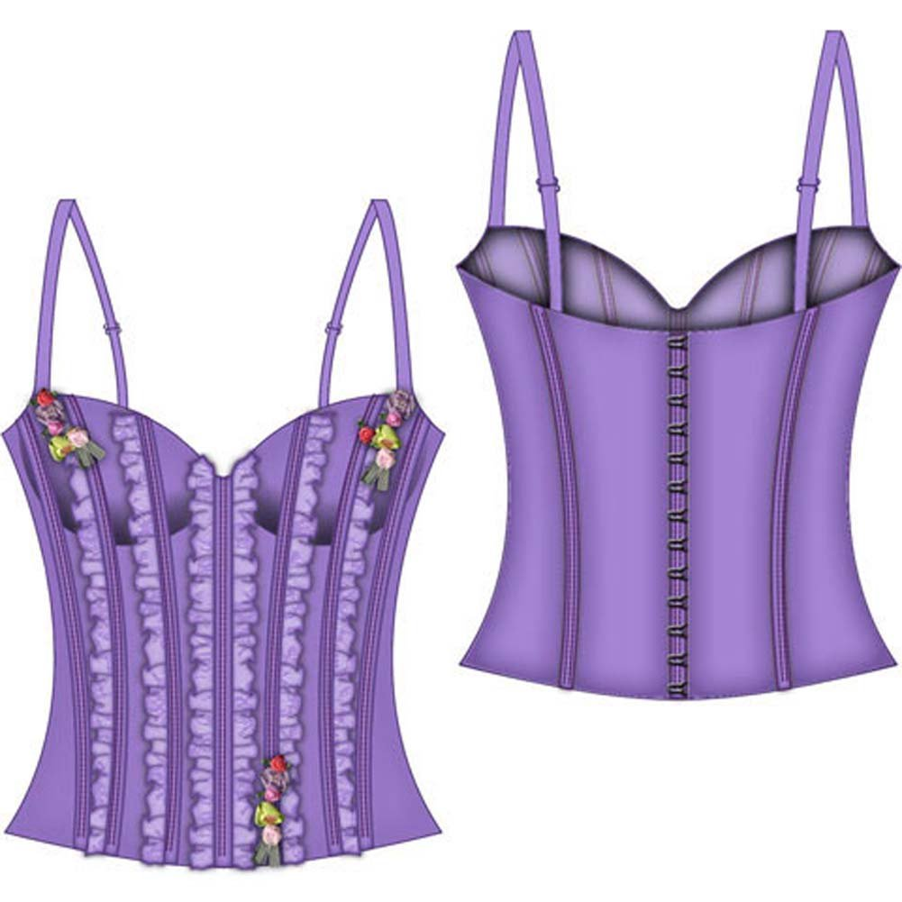 Fairy Princess Lined Boning Corset Large Lavender - View #2