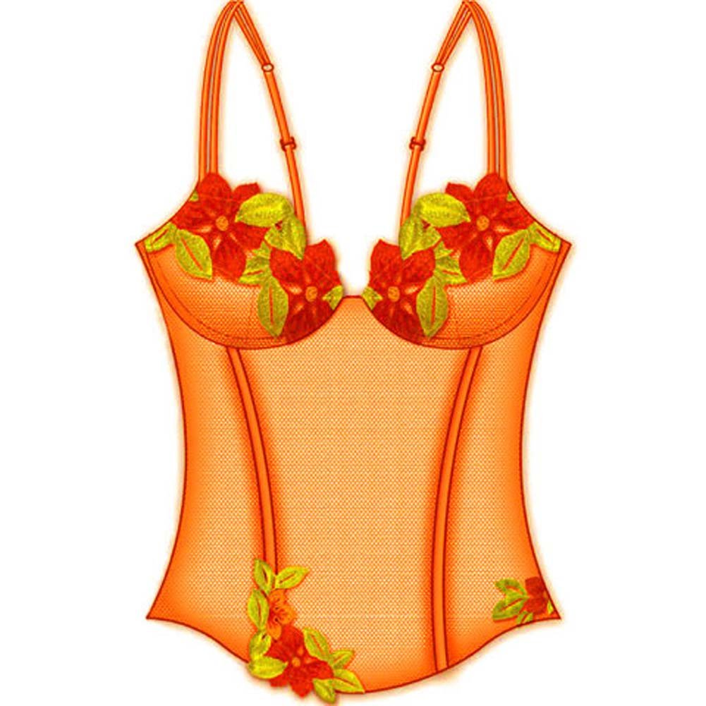Wildflower Boned Princess Line Corset 36B Orange - View #2