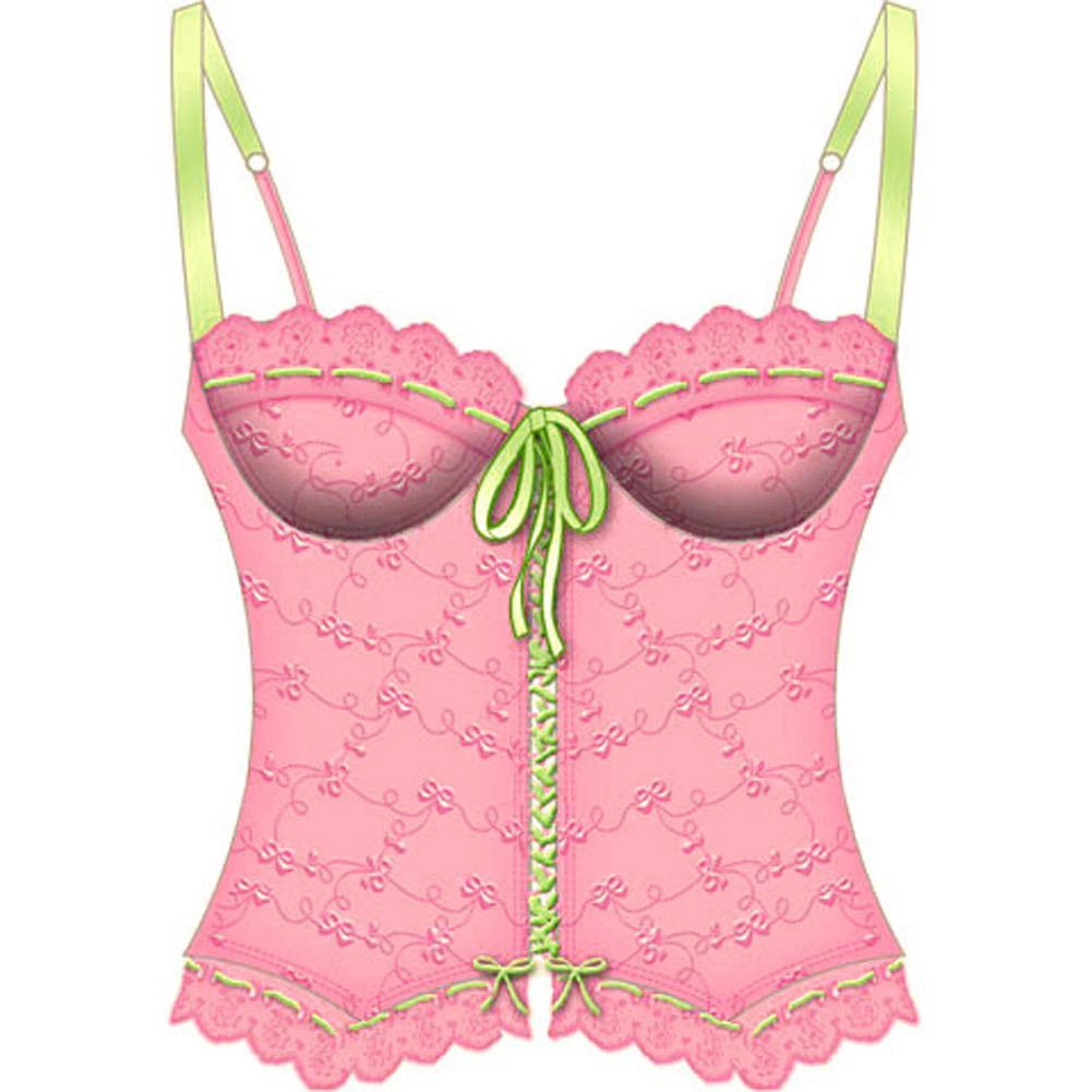 Lost In Paradise Bone Underwire Bustier 36C Pink - View #2