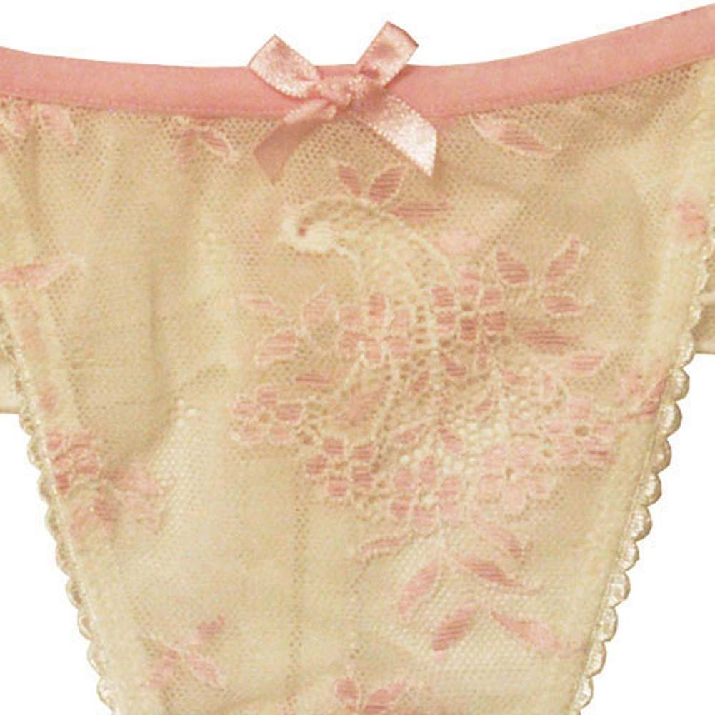 Ruffled Fantasy Special Occasion Thong Large Ivory - View #4