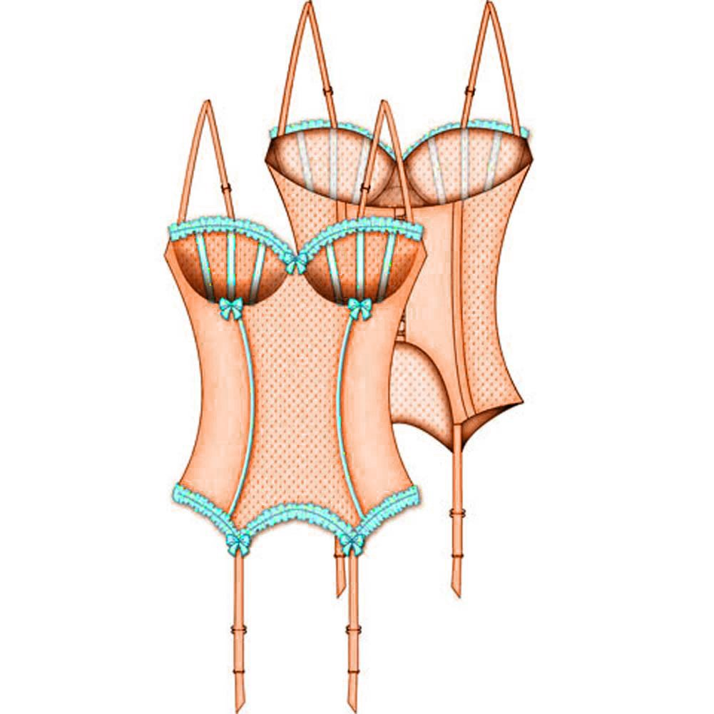 Show Girl Removable Strap and Garter Bustier 36B Peach Puff - View #3