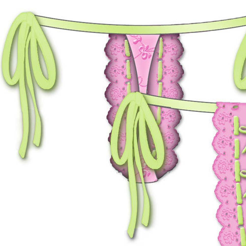 Lost In Paradise Tied Waist Thong Small Pink - View #4