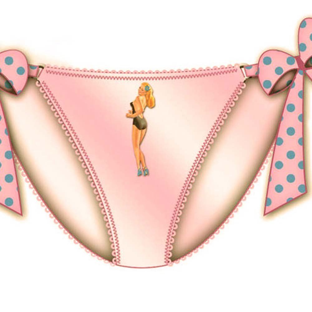 Centerfold Tied Bows Bikini Small Pink - View #2