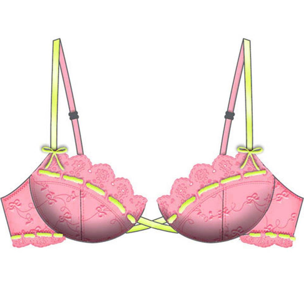 Necessary Objects Lost in Paradise Relaxed Cup Bra 36B Pink - View #2