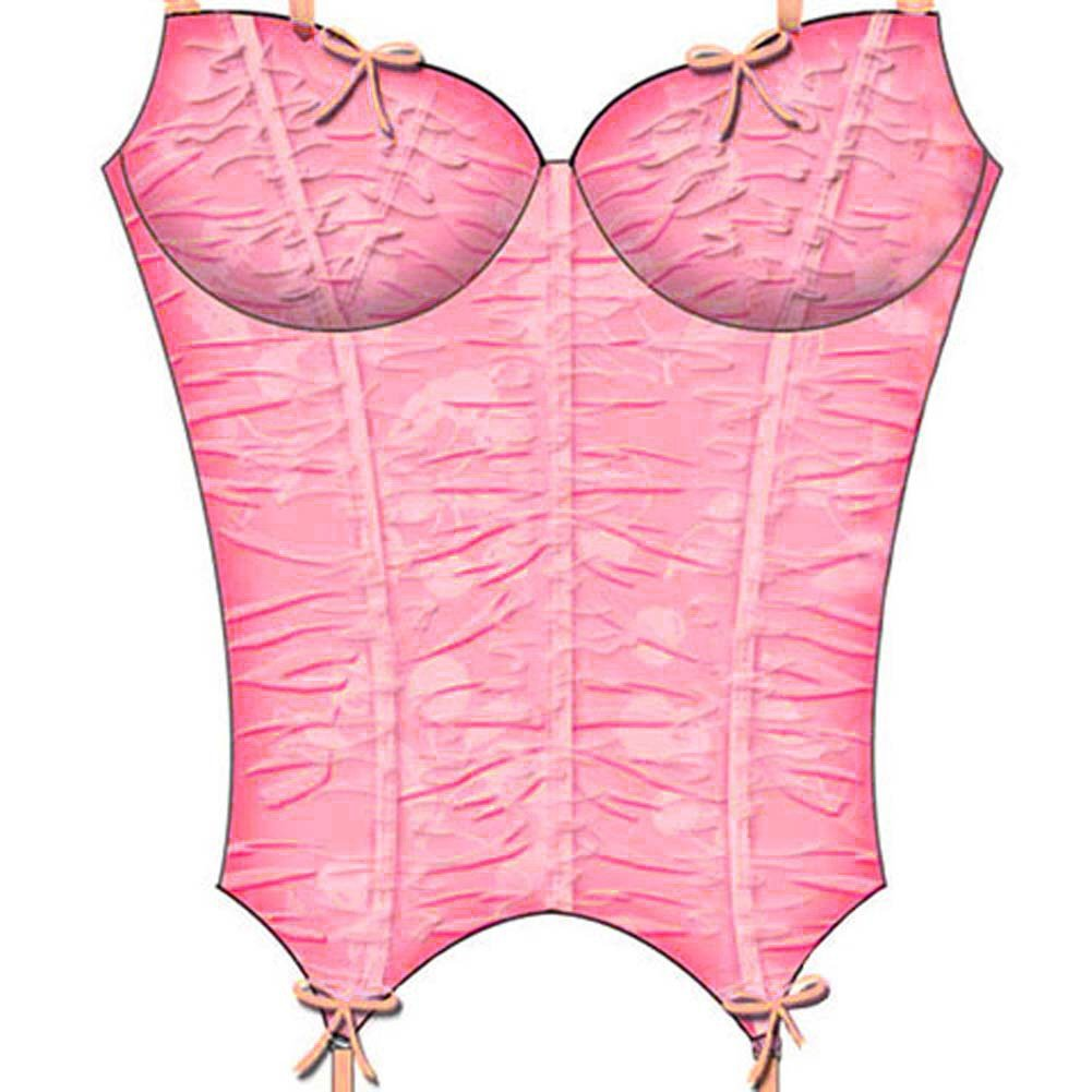 Necessary Objects Cherry Pie Shirred Bustier with Garters 36B Pink - View #3