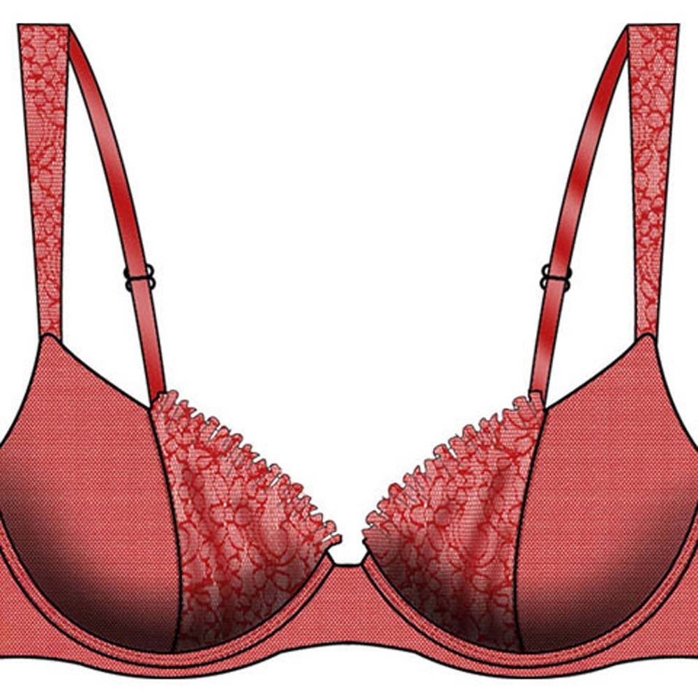 Take a Bow Uplifting Padded Bra 34B Red - View #2