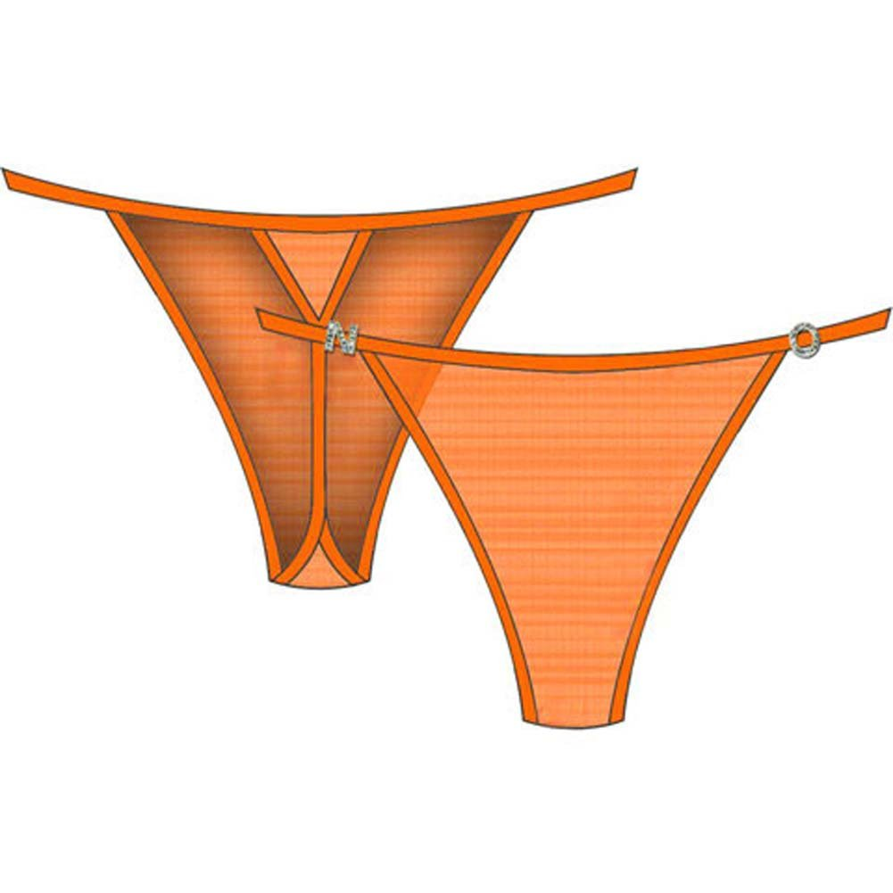 N.O. Charm String Side Thong Medium Orange - View #2