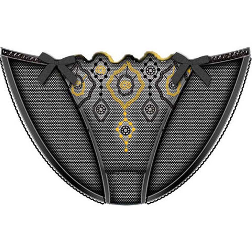 Jewel Of The Nile Skinny Side Bikini Large Black - View #1