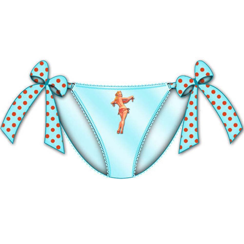 Centerfold Tied Bows Bikini Small Blue - View #1
