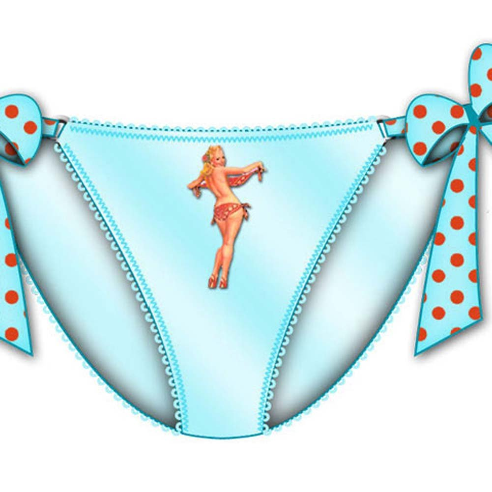 Centerfold Tied Bows Bikini Medium Blue - View #2