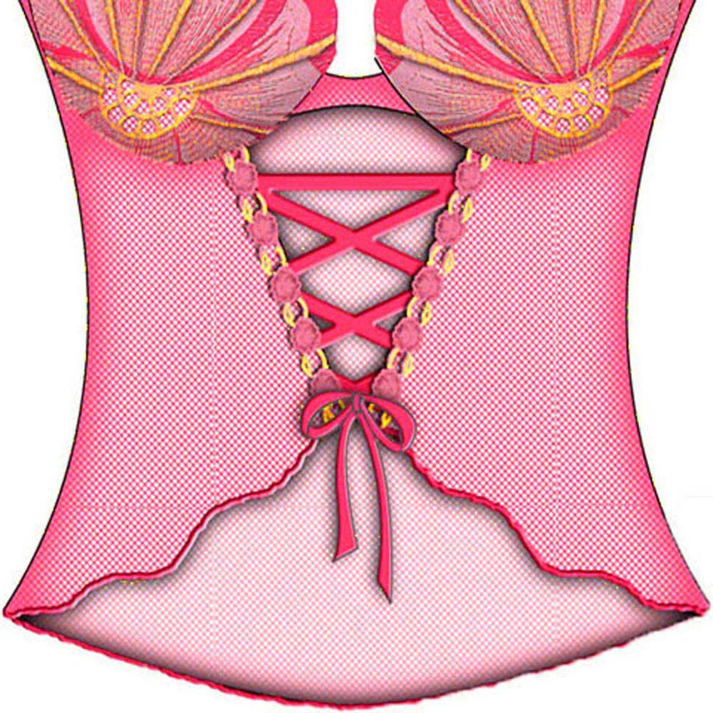 Sexy Seashell Corseted Cami with Underwire Bra 36B Pink - View #3