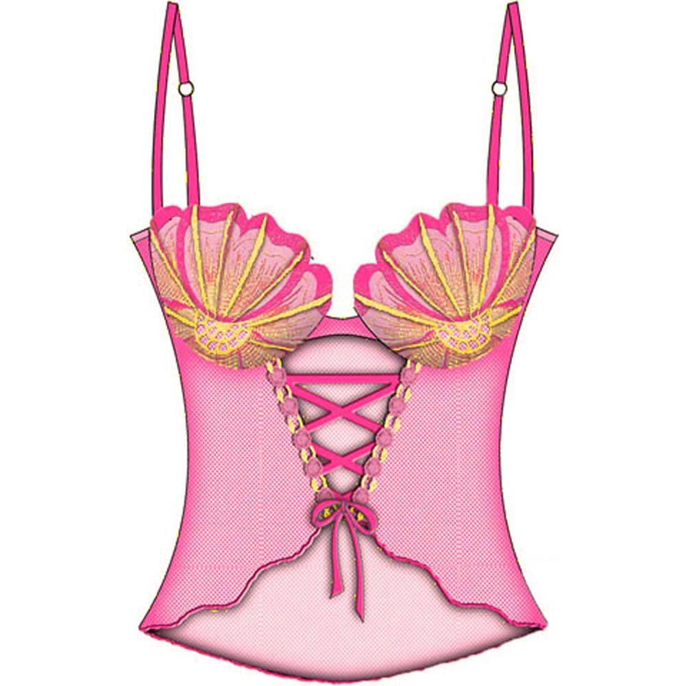 Sexy Seashell Corseted Cami with Underwire Bra 36C Pink - View #2