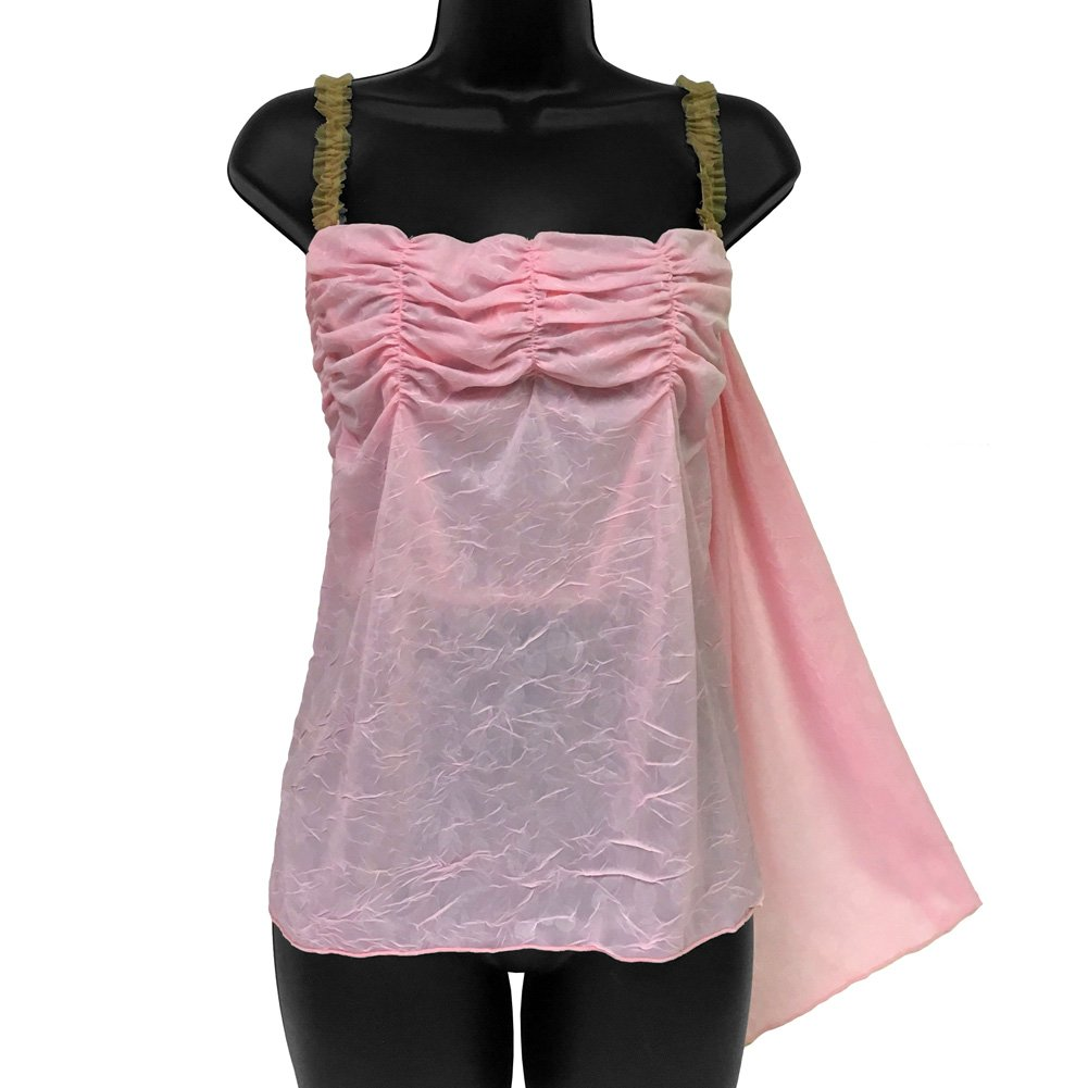 Cherry Pie Relaxed Cup Cami in Flowy Pink Ruffled Fabric 34C - View #1