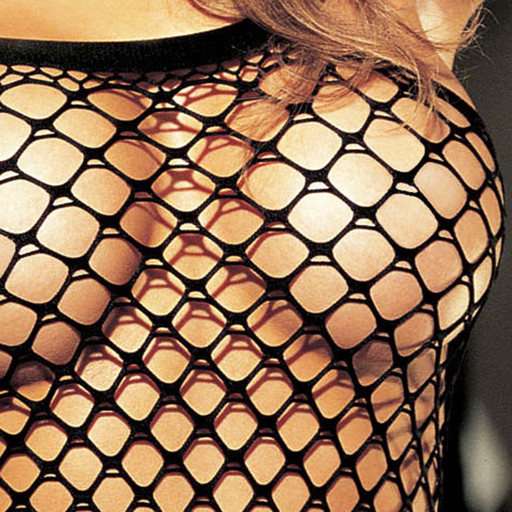 Big Hole Fishnet Dress Black - View #3