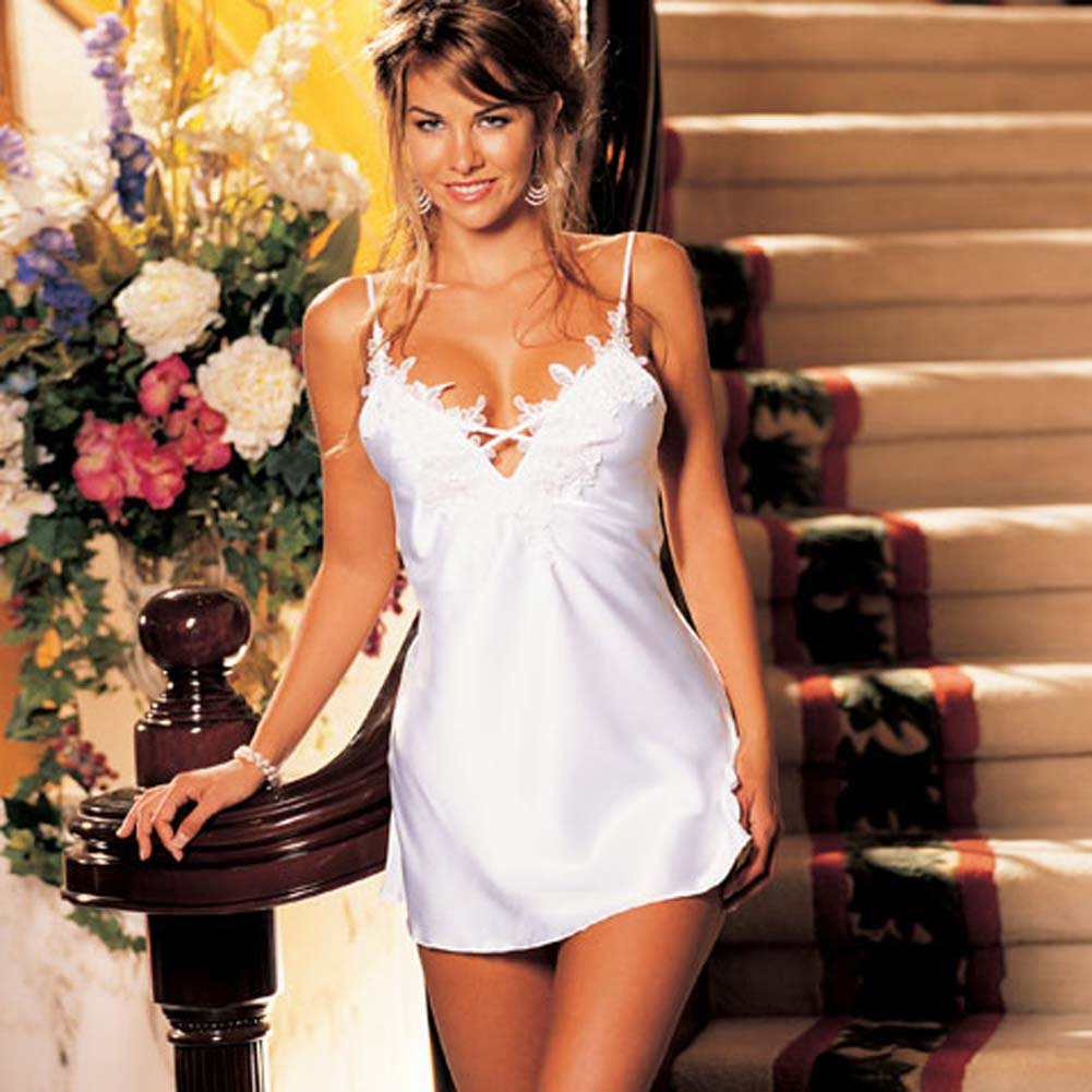 Charmeuse Chemise Pure and Innocent White Size Medium - View #2