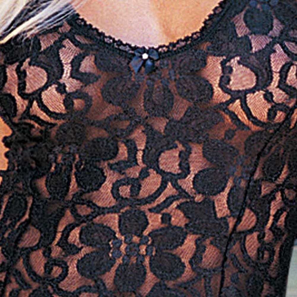 Shimmery Stretch Lace Chemise Large - View #3