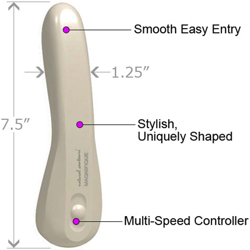 "Natural Contours Magnifique Intimate Vibrator 7.5"" Ivory - View #1"