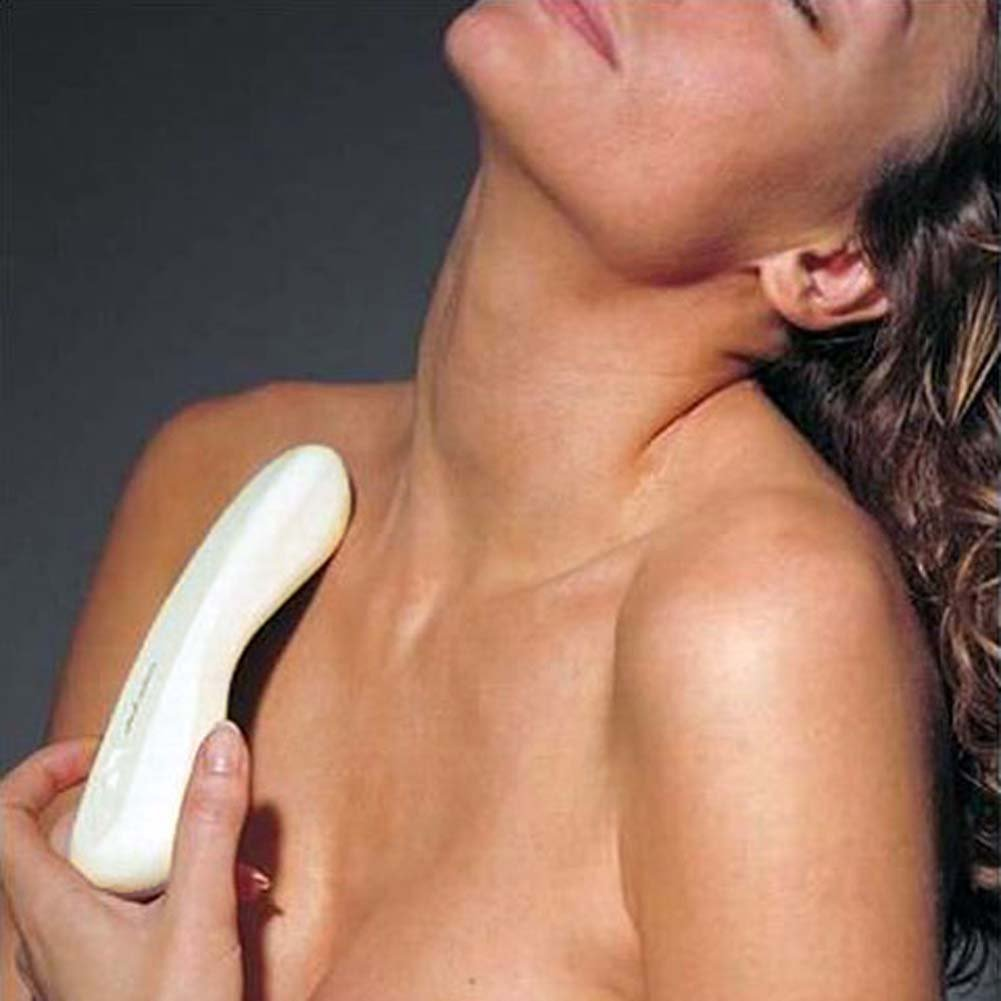 "Natural Contours Magnifique Intimate Vibrator 7.5"" Ivory - View #3"