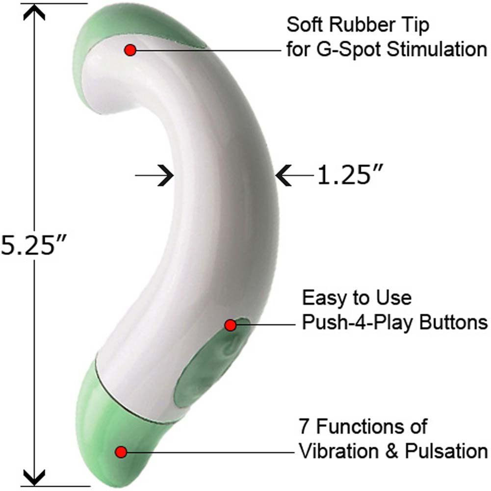 "Sinclair Institute Gia Curved G-Spot Massager 5.25"" - View #1"