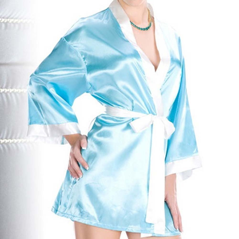 Relaxing Robe with Contrasting Trim - View #2
