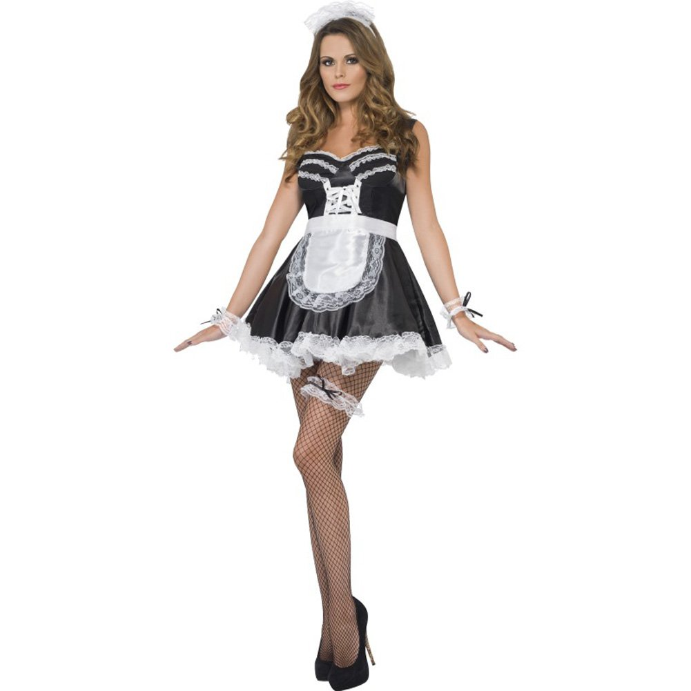 Smiffys French Maid Set One Size Black/White - View #1