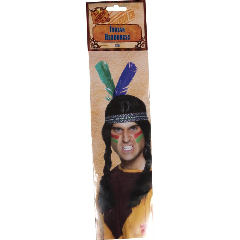 Native American Inspired Feathered Headband - View #2