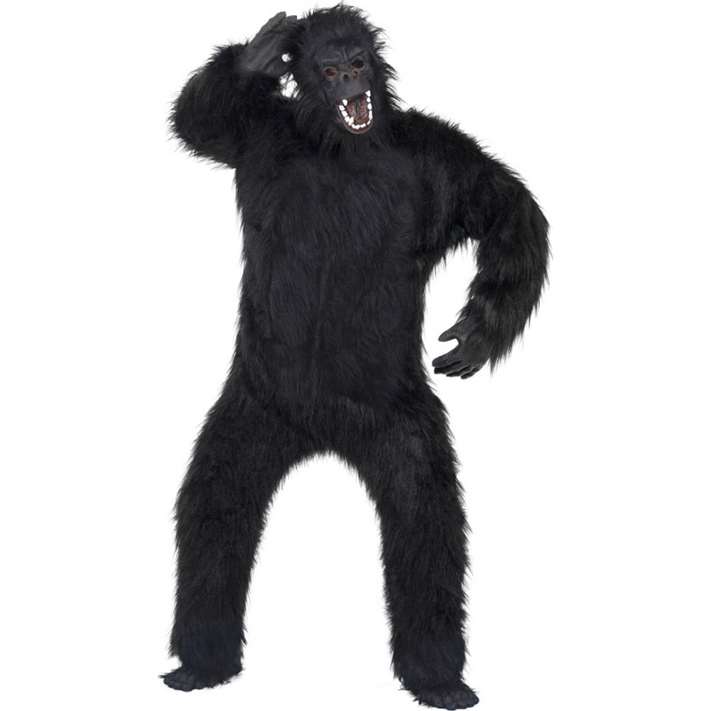 Gorilla Costume One Size Black - View #2