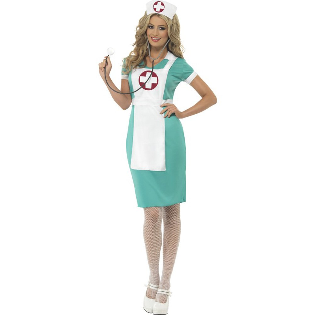 Scrub Nurse Costume Medium - View #1