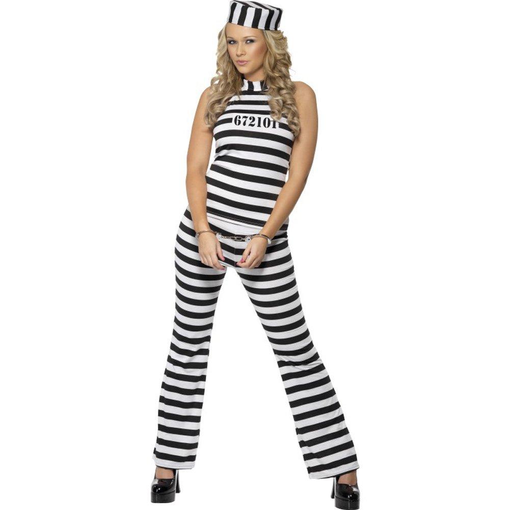 Convict Cutie Costume Medium - View #1