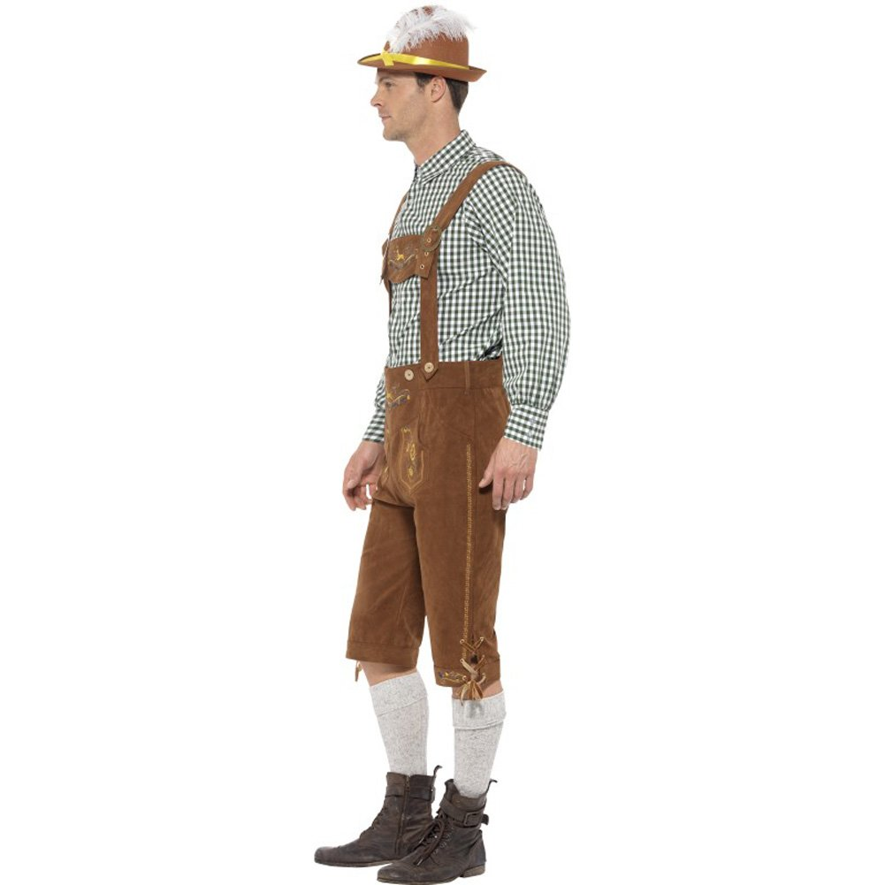 Traditional Deluxe Hanz Bavarian Costume Large - View #2