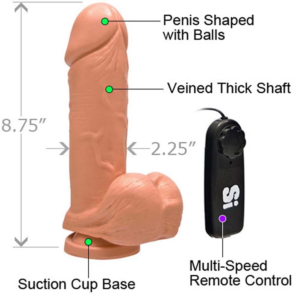 "Thick Realistic Cock with Suction and Vibration 8"" Flesh - View #1"