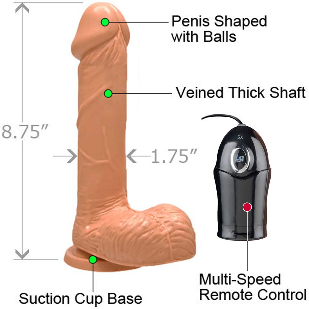 "Realistic 7"" Cock with Suction and Vibration Natural Flesh - View #1"